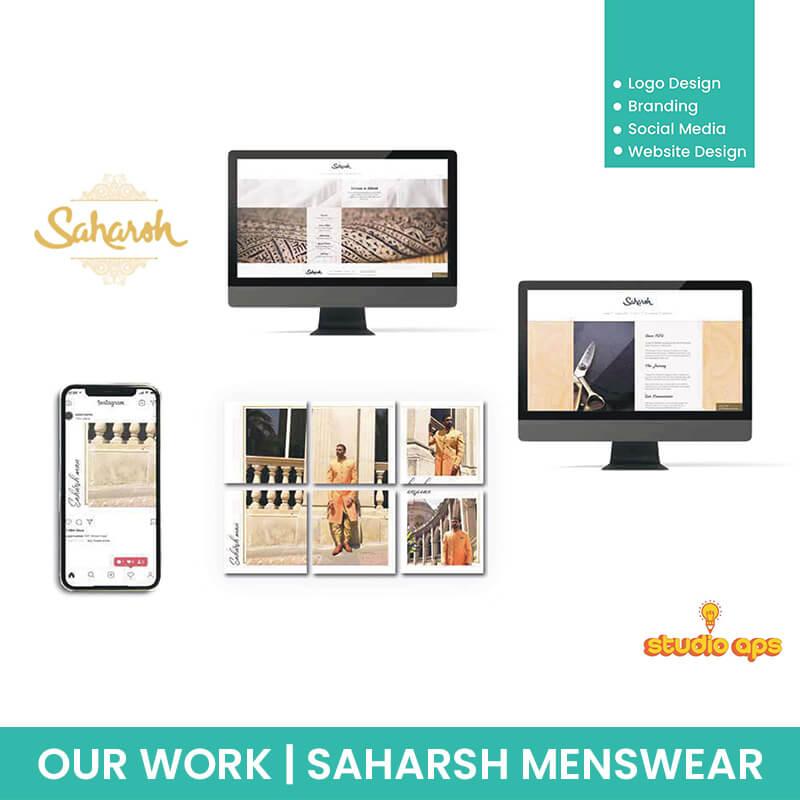 Saharsh Menswear - Logo - Branding - Social Media - Website